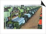 South Carolina - Greenville County Textile Mill Weave Room Prints by  Lantern Press