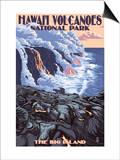The Big Island, Hawaii - Lava Flow Scene Prints by  Lantern Press