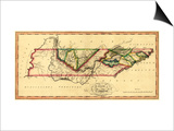 Tennessee - Panoramic Map Art by  Lantern Press