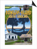 Pawleys Island, South Carolina - Montage Prints by  Lantern Press