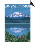 Mount Rainier, Reflection Lake Posters by  Lantern Press
