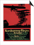Berlin, Germany - Konkurrenz-Fliegen Airfield Promotional Poster Art by  Lantern Press