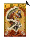 Day of the Dead - Skeleton Dancing Posters by  Lantern Press