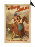 Sidney R. Ellis' Bonnie Scotland Scottish Play Poster No.2 Print