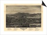 Kingfield, Maine - Panoramic Map Prints