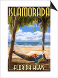Islamorada, Florida Keys - Hammock Scene Poster by  Lantern Press