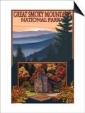 Great Smoky Mountains - Cades Cove, c.2009 Print by  Lantern Press