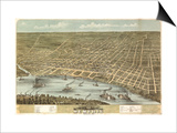 Memphis, Tennessee - Panoramic Map Prints by  Lantern Press