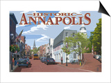 Historic Annapolis, Maryland Street View Prints by  Lantern Press