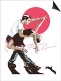 Salsa Dancers Poster