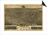 Lincoln, Nebraska - Panoramic Map Prints by  Lantern Press