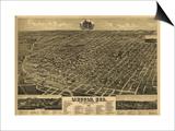 Lincoln, Nebraska - Panoramic Map Prints
