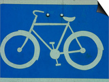 Metal Bicycle Sign Poster