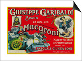 Giuseppe Garibaldi Macaroni Label - Philadelphia, PA Prints by  Lantern Press