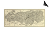 Great Smoky Mountains National Park - Panoramic Map Posters by  Lantern Press
