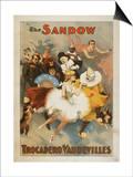 Lantern Press - Sandow Trocadero Vaudevilles Carnival Theme Poster - Reprodüksiyon