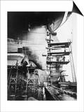 Ship Construction in Germany Photograph - Hamburg, Germany Art by  Lantern Press