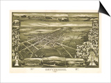 Gettysburg, Pennsylvania - Panoramic Map Poster by  Lantern Press