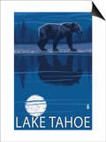 Bear at Night - Lake Tahoe, California Posters
