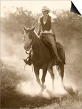 Cowgirl, Apache Spirit Ranch, Tombstone, Arizona, USA MR Prints by Christian Heeb