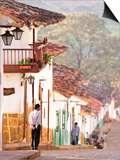 Colonial Town of Barichara, Colombia, South America Print by Christian Heeb