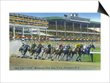 Oceanport, New Jersey - Monmouth Park Race Track Scene Prints