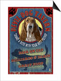 Devil Dog Tavern - Basset Hound Prints by  Lantern Press