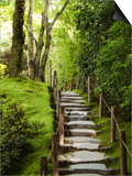 Stone Steps Leading Through Shoyoen Garden at Rinno-Ji Temple Posters by Christopher Groenhout