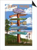 Long Beach Island, New Jersey Destination Sign Posters by  Lantern Press