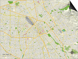 Political Map of San Jose, CA Prints