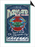 Chesapeake City, Maryland - Blue Crab Prints by  Lantern Press