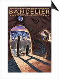 Bandelier National Monument, New Mexico - Twilight View Prints by  Lantern Press