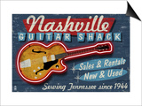 Nashville, Tennessee - Guitar Shack Posters by  Lantern Press
