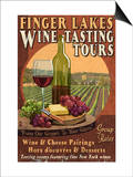 Finger Lakes, New York - Wine Tasting Prints by  Lantern Press