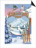 Timberline Lodge - Winter Views - Mt. Hood, Oregon Posters by  Lantern Press