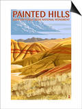 Painted Hills - John Day Fossil Beds, Oregon Prints by  Lantern Press