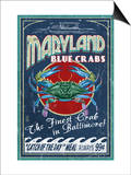 Baltimore, Maryland - Blue Crabs Posters by  Lantern Press