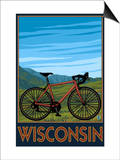 Mountain Bike Scene - Wisconsin Posters by  Lantern Press