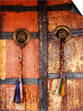 Door at Tikse Monastery Posters by Dennis Walton