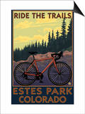 Estes Park, Colorado - Ride the Trails Poster by  Lantern Press