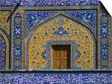 Detail of Tiled Facade of Abul Al Fadhil Al Abbasi Shrine, Karbala, Karbala, Iraq Posters by Jane Sweeney