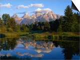 Teton Range, Grand Teton National Park, USA Poster by John Elk III