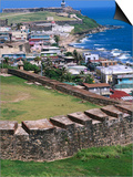 Castillo San Felipe Del Morro Overlooking Coastline, San Juan, Puerto Rico Prints by John Elk III