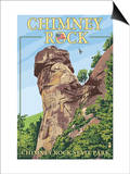 Chimney Rock State Park, North Carolina Art by  Lantern Press