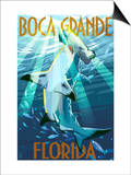 Boca Grande, Florida - Hammerhead Shark Prints by  Lantern Press