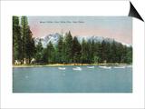 Lake Tahoe, California - Tallac Pier View of Mount Tallac Prints by  Lantern Press