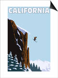 California - Skier Jumping Prints by  Lantern Press