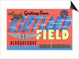 Albuquerque, New Mexico - Kirtland Field, Large Letter Scenes Posters by  Lantern Press