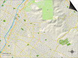 Political Map of Whittier, CA Prints