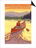 Pinecrest Lake, California - Canoe Scene Prints by  Lantern Press